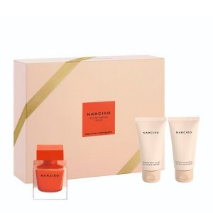 Narciso Rodriguez Set (Eau de Parfum 50ml spray & Scented Shower Gel 50ml & Scented Body Lotion 50ml)