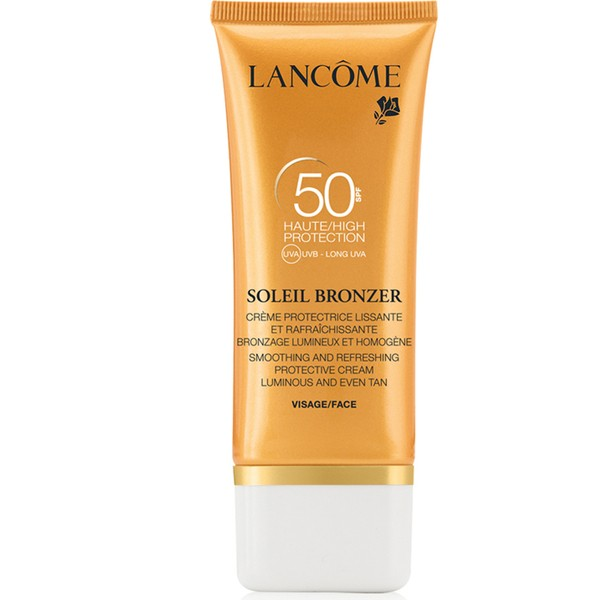 Lancome Soleil Bronzer SPF 50 Face Smoothing Protective Cream Luminous And Even Tan 50ml